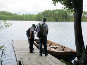 Inget odjur siktades, men väl en båt.