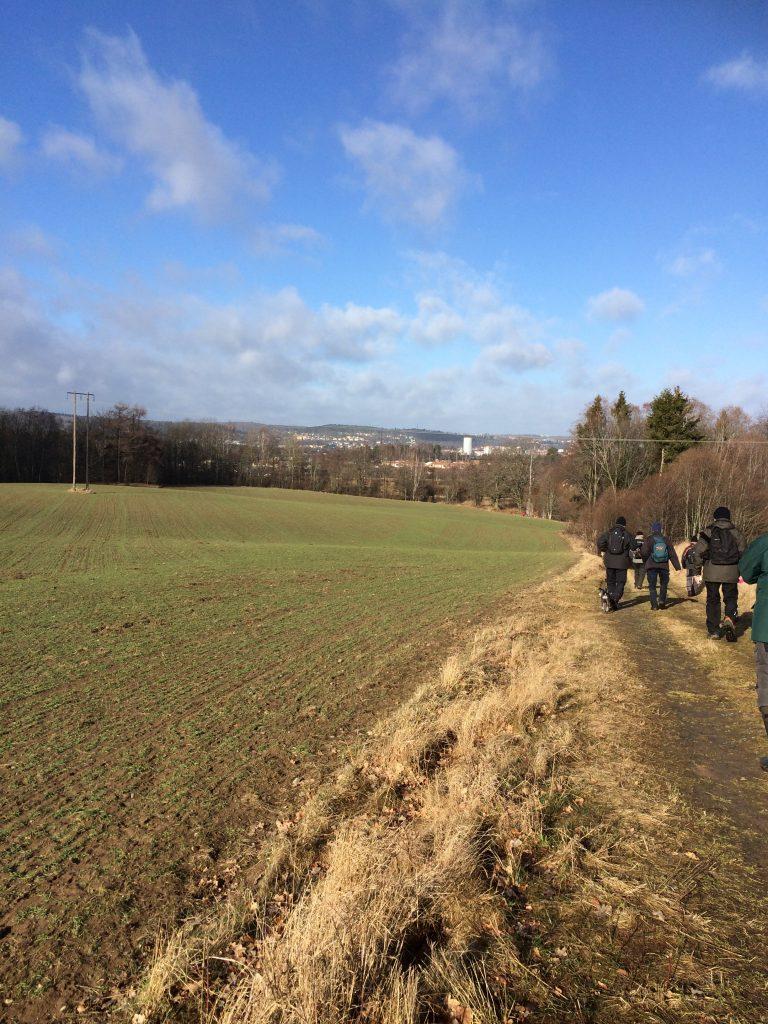 """På hemväg ner mot Strömsberg hade vi en fin utsikt mot staden med dess nya landmärke """"Toarullen"""""""