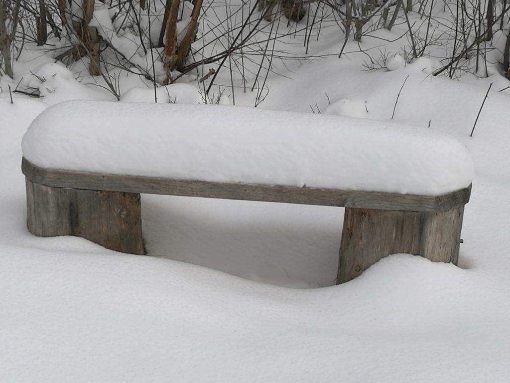 Så här mjuka och sköna sittplatser fanns utplacerade i terrängen.
