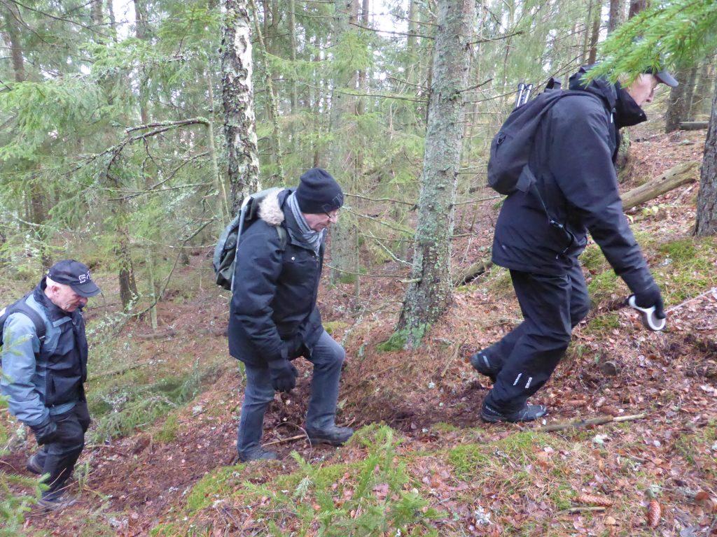 Sista biten riktigt tuff. Men Sven Lundberg och Gunnar Wahlström hade gjort ett förtjänstfullt röjningsarbete.