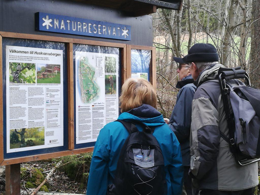 Information om Huskvarnabergens naturreservat.