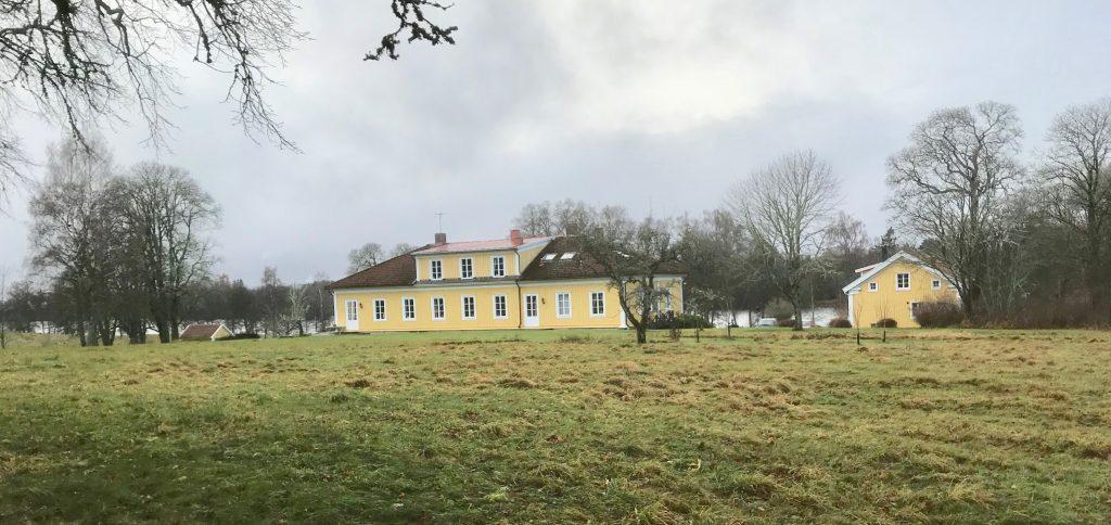 Odensjö gård, Barnarp, var utgångspunkten för dagens 14 tappra vandrare.