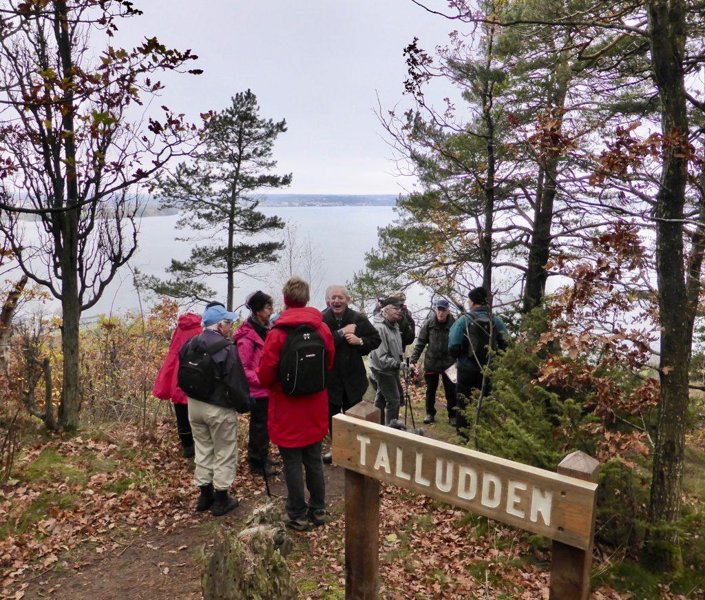 Utsikten från Talludden ville vi inte missa.