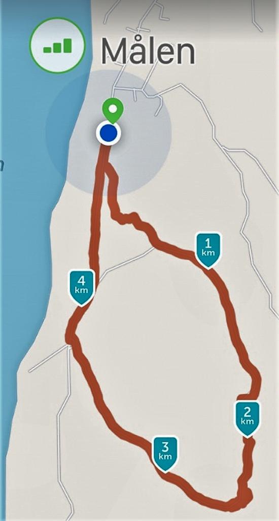 Dagens vandring blev som vanligt ca 5 km.