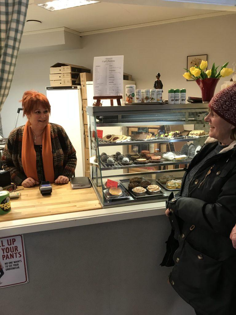 Nej, det som lockade var Café Framme, som drivs av Agneta Murling från Öggestorp