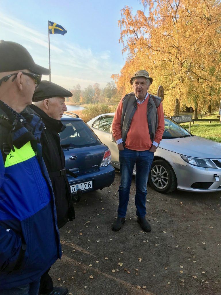 Vid Bunnström mötte dagens guide, Anders Råsberg.