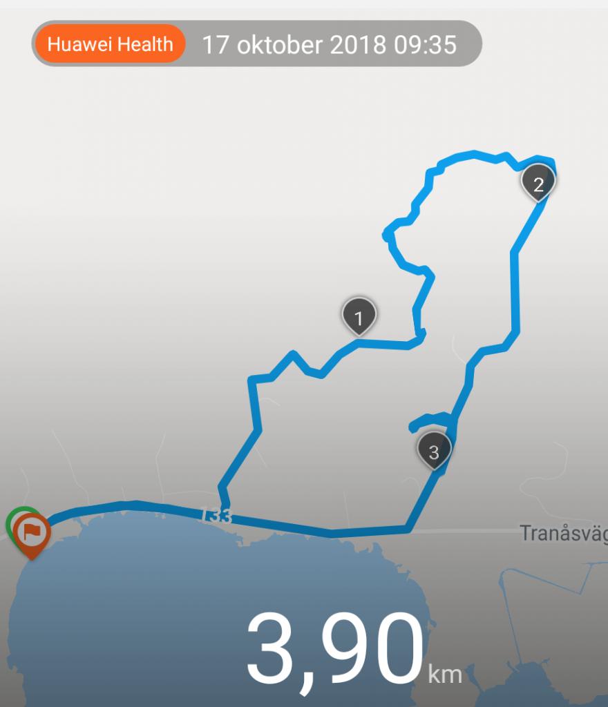 Dagens runda blev knapp 4 km.