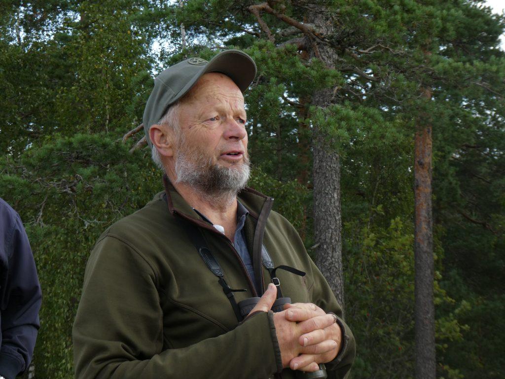 Vännen C-G Liderfelt, från närbelägna Räveberg, guidade oss. Tack för det!