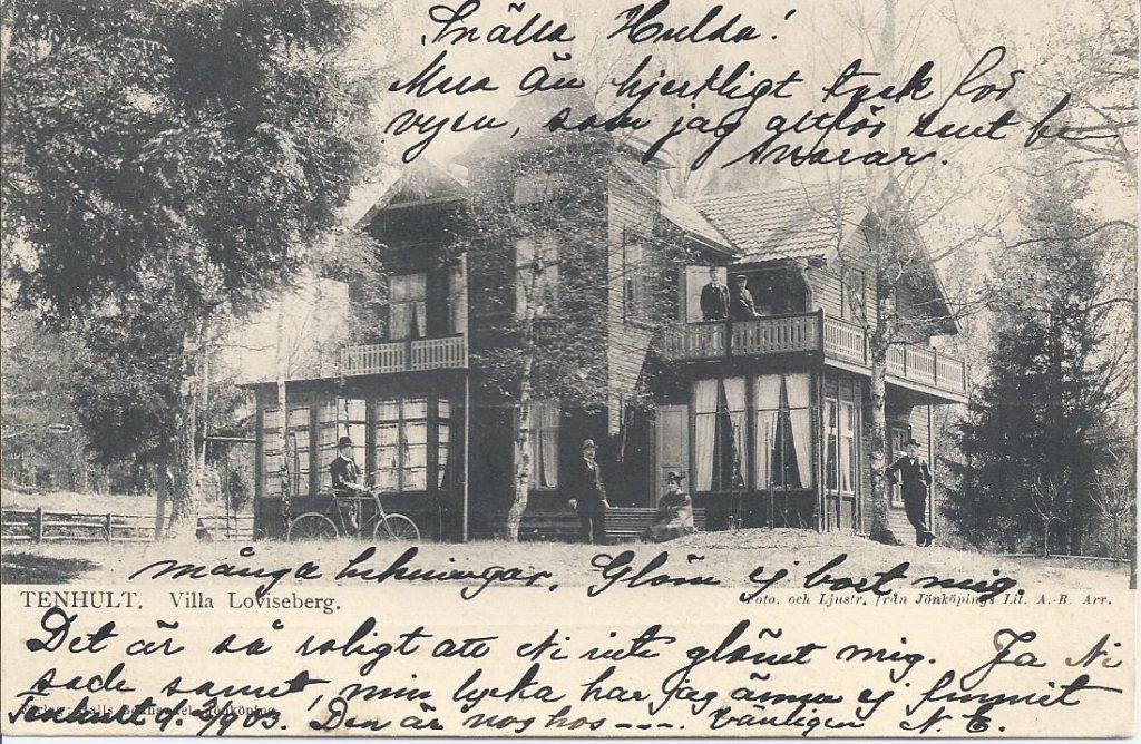Så här elegant var Villa Loviseberg när den var nybyggd.