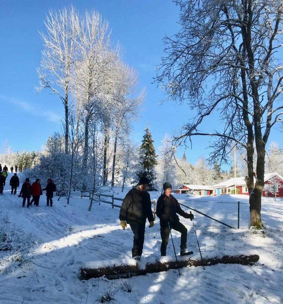 Efter Fagerslätt, vidare norrut, via TSOKs motionsspår så var vi tillbaka vid Holmalyckan och P-platsen.