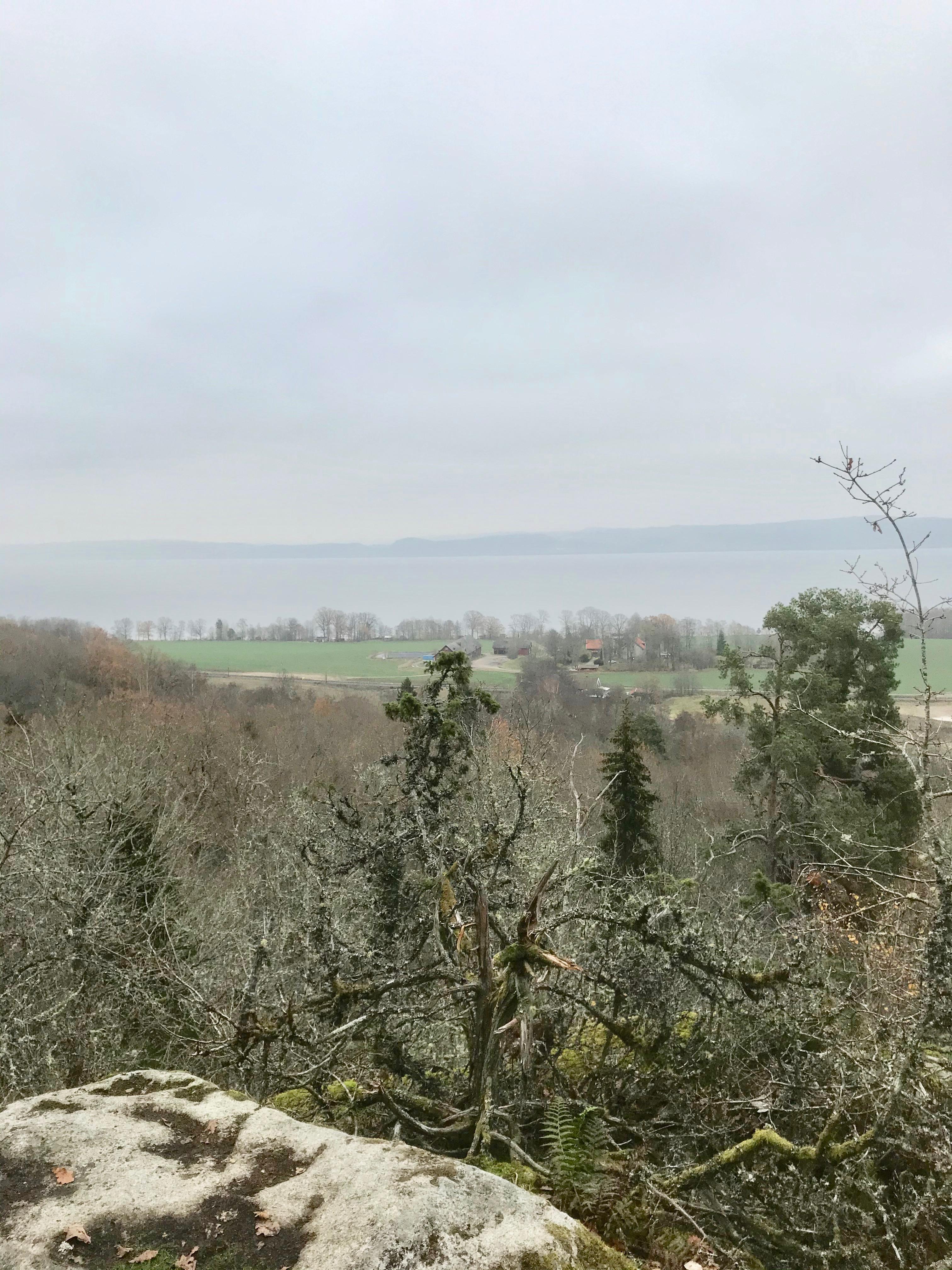 En liten avstickar i Häggebergs reservat med utsikt över Granbäcks går och Vättern. Trots lite mulet väder en fantastisk vandring.