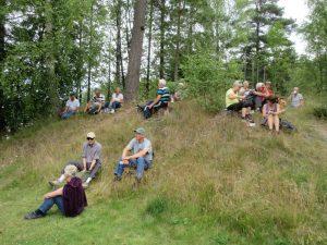 Så var det dags för fikat på kullen vid Storsjöns badplats.