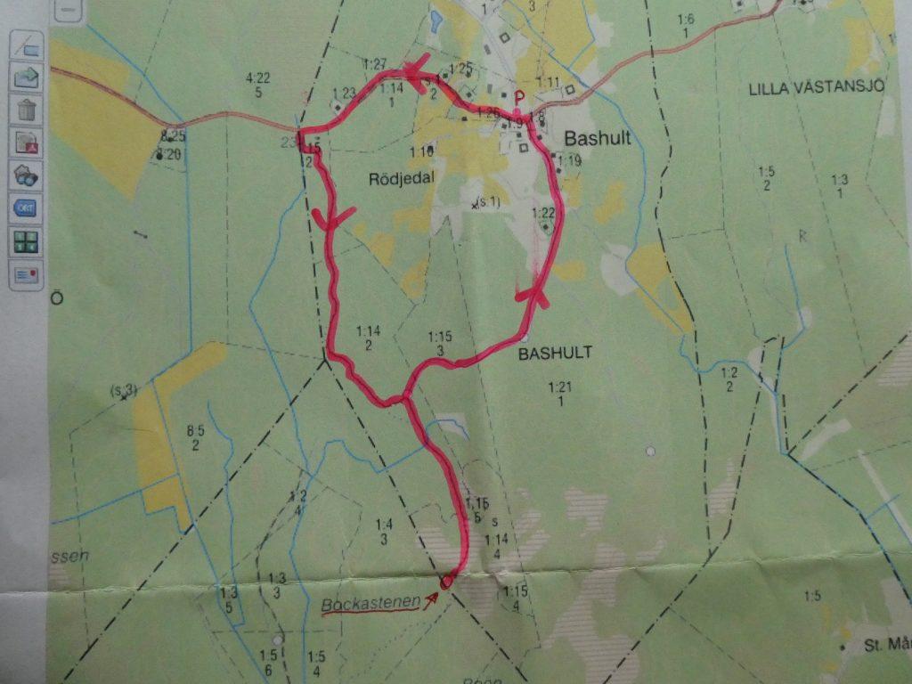 Ca 5 km blev rundan för de 28 deltagarna i perfekt väder. Tack Marianne och Boine!